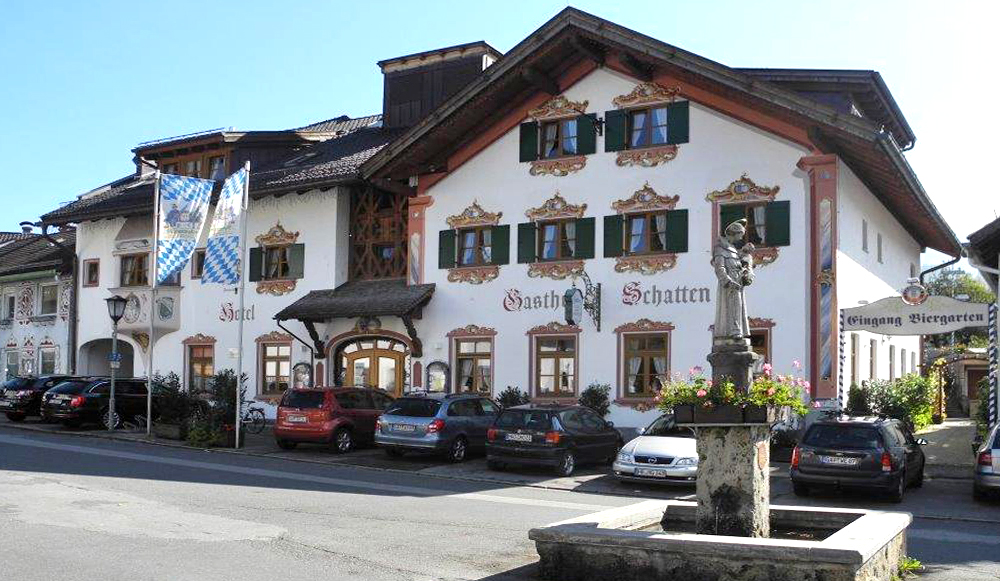 Hotel und gasthof schatten in garmisch partenkirchen for Designhotel garmisch